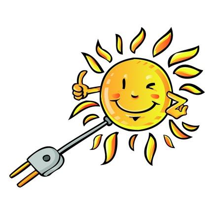 sun eco solar  向量圖像