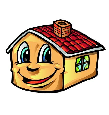 clipart chimney: house cartoon Illustration