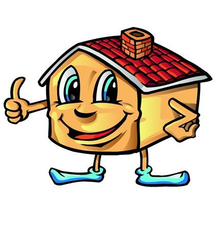 thumbup: happy house cartoon thumb-up