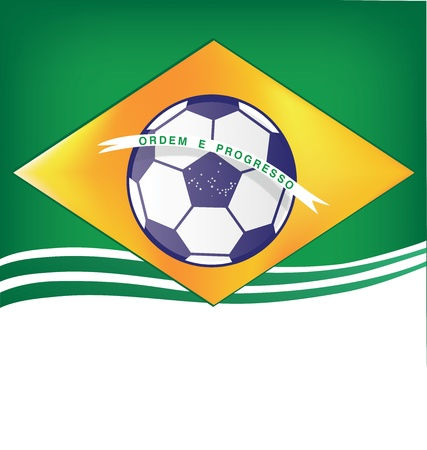 brasil background soccer 2014 Vector