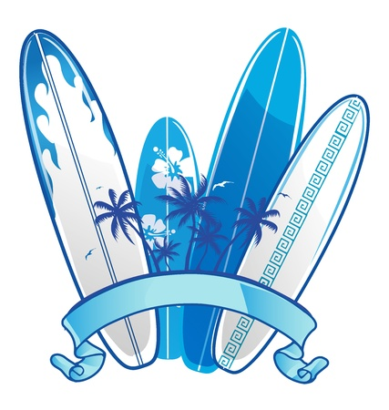 surfboard background Vector