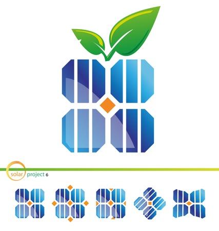 zonne-energie project Stock Illustratie