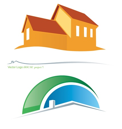 Two variants vector house symbols 2