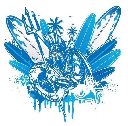 titan: poseidon surfer