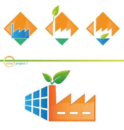 maison solaire: photovolta�que projet 1 Illustration