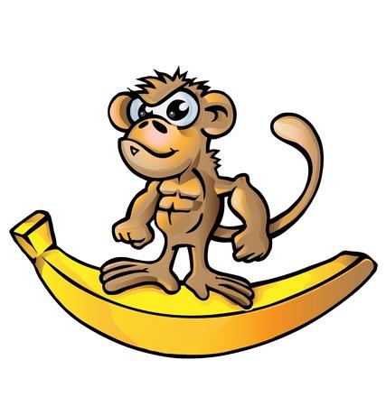 beefy: monkey muscle cartoon