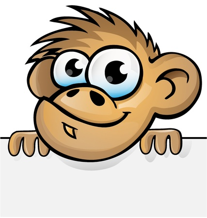 monkey cartoon with background Vector
