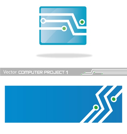 vector project computer 1 Illustration