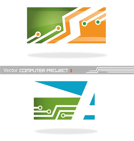 vector project computer 3 Stock Vector - 19262914