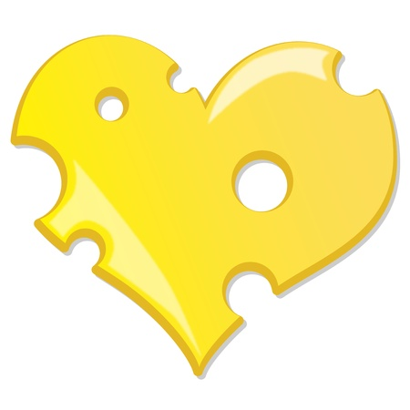 chees: heart cheese Illustration