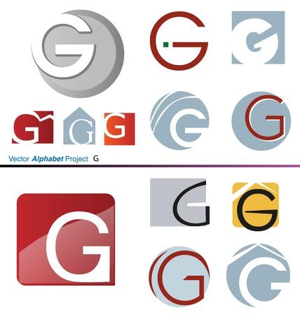 letter g: Vector Alphabet Project G