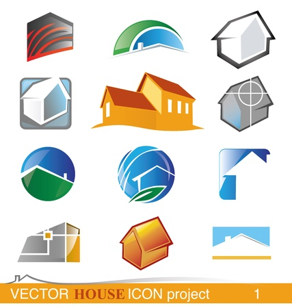 vector house icon project 1 Vector