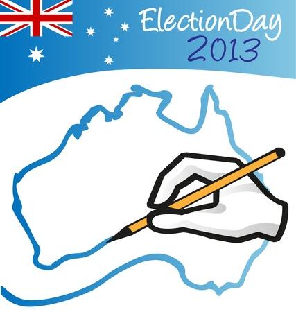 suffrage: austalian election day Illustration
