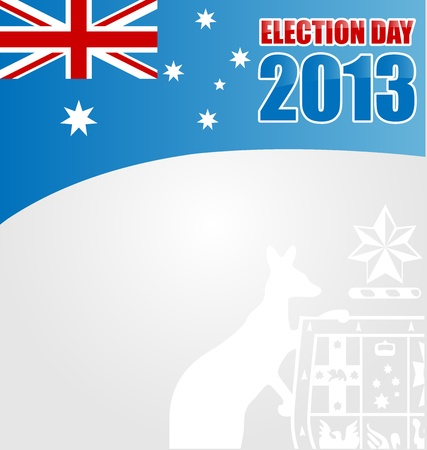 suffrage: australian election day background with emblem Illustration