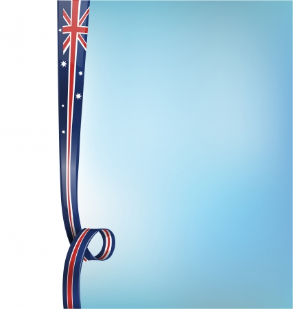 melbourne australia: background with australian flag Illustration