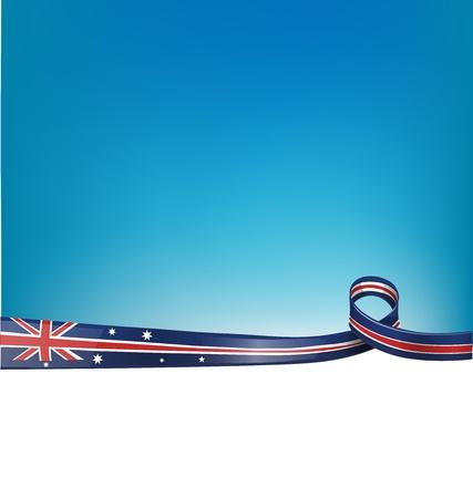 background with australian flag Illustration