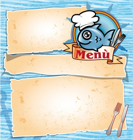 fish drawing: fish menu