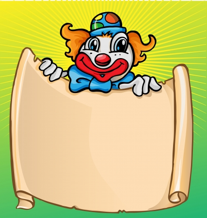 clown shoes: clown with banner