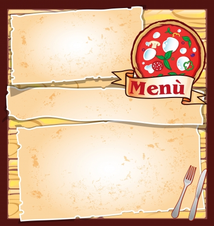 pizza menu Stock Illustratie