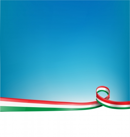 background with Italian flag Illusztráció