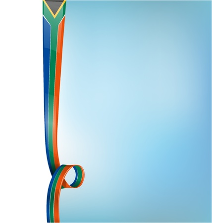 south africa background vertical flag Illustration