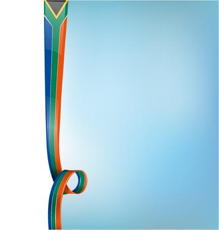 nobel: south africa background vertical flag Illustration