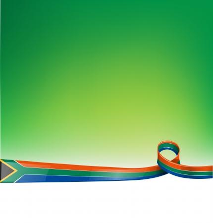 южный: ЮАР фоне флага