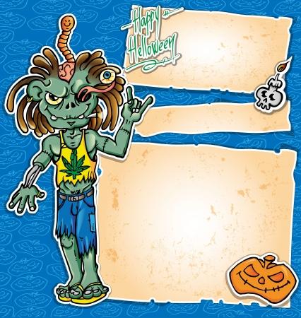 er: zombie rock cartoon background