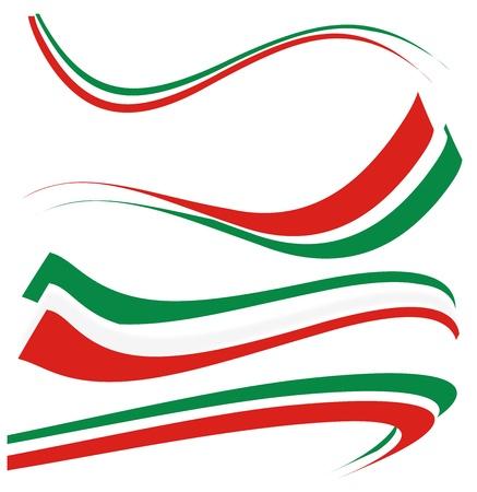 italien flagge: eingestellt italienische Flagge Illustration