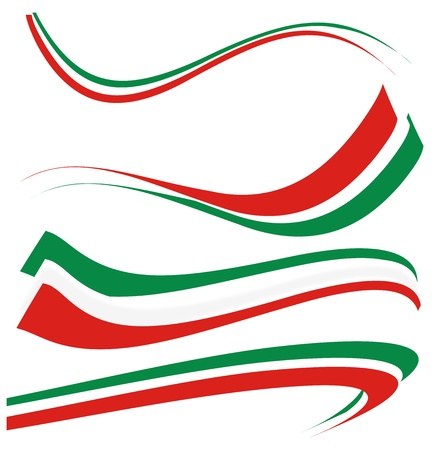 rendu: mis en drapeau italien Illustration