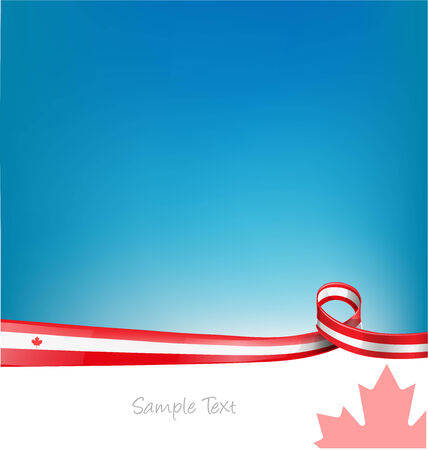 toronto: canada background with flag  Illustration