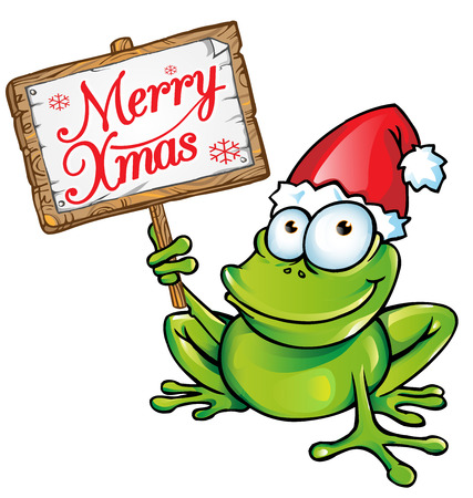 christmas frog: christmas frog Illustration