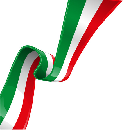 the italian flag: sfondo italiano con bandiera Vettoriali