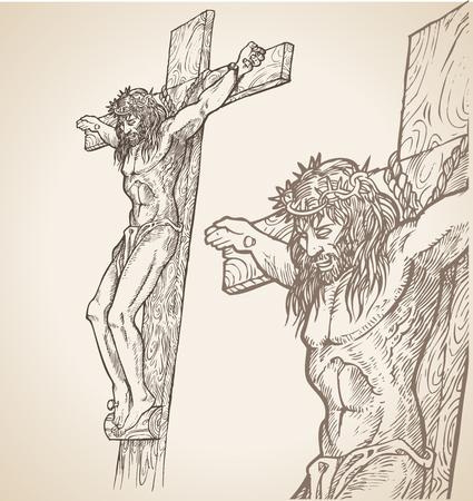 crucify: jesus hand draw