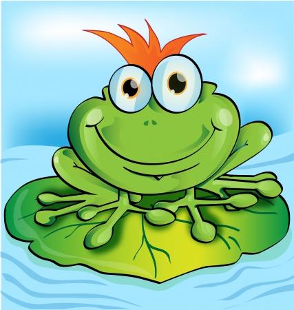 funny frog: frog  Illustration