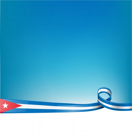 havana: background with cuba ribbon flag