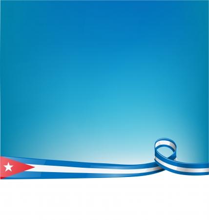 cuban flag: background with cuba ribbon flag