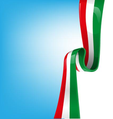 sky background with flag italian  Illustration