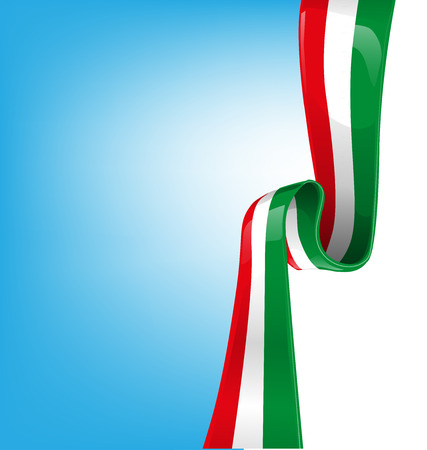 sky background with flag italian  Illustration