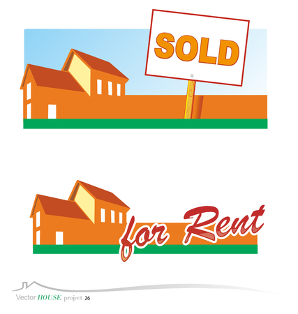 real estate sold: house project  Illustration
