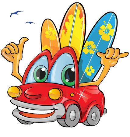 hola: travel car cartoon Illustration