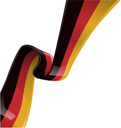the land of menu: germany ribbon flag