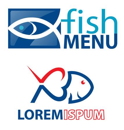mer ocean: �l�ment de symboles de poissons Illustration