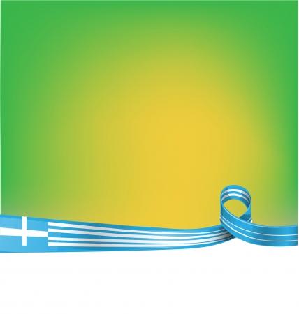 greek flag: greek ribbon flag