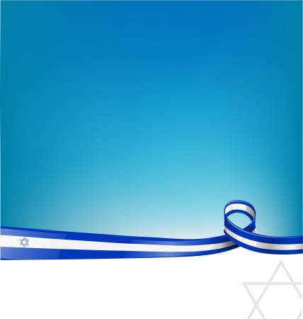 israel flag: israel ribbon flag  Illustration