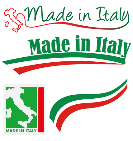 made in italy set Vector
