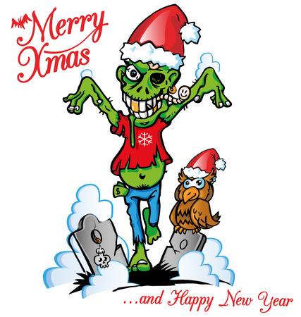 zombie xmas Vector