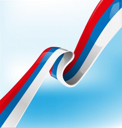 russian ribbon flag on background Illustration