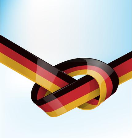 germanic: germanic ribbon  flag on background