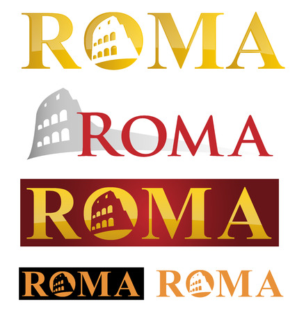 rome icon symbol isolate on white background Vector